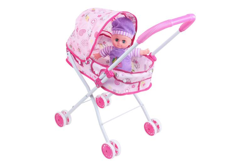 Barbie Doll Accessories Toys 12 inch cotton doll baby sunshade trolley (iron) No.TA229038