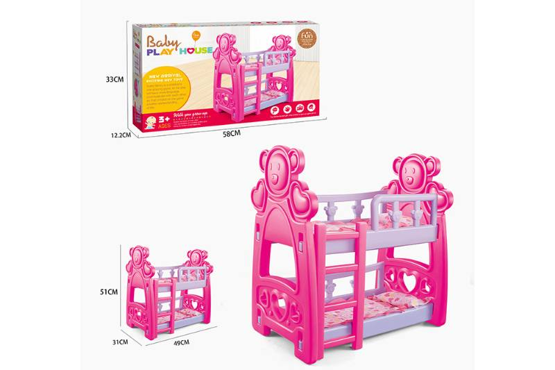 Barbie Doll Accessories Toys Doll Double Baby Crib No.TA229048