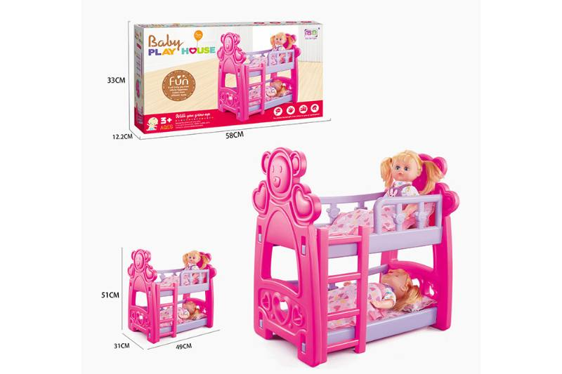 Barbie Doll Accessories Toys Double Crib 14 inch IC doll No.TA229049