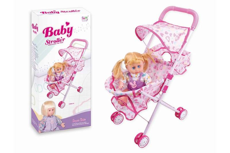 Barbie Doll Accessories Toys baby sun shade cart 12 inch cotton body doll No.TA233391