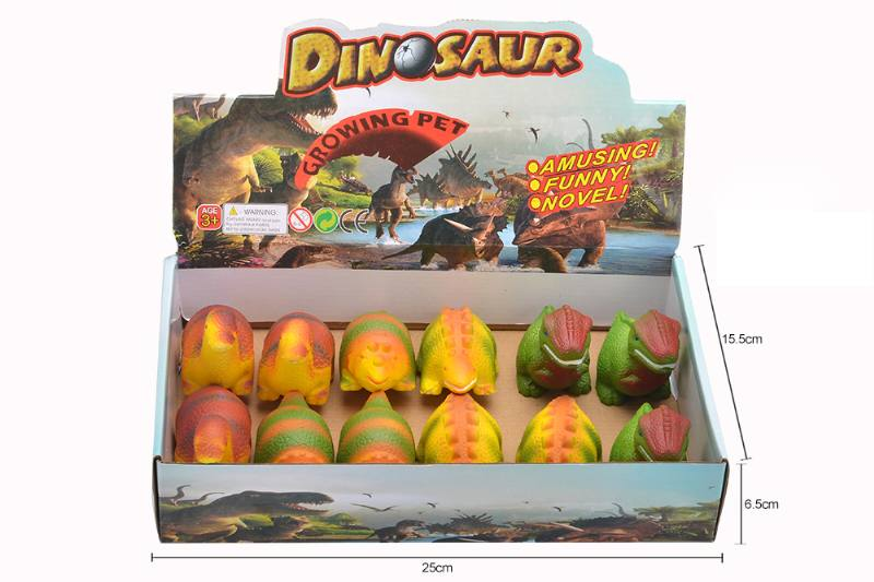 Slow rebound toy 12 dinosaurs in color box No.TA253151