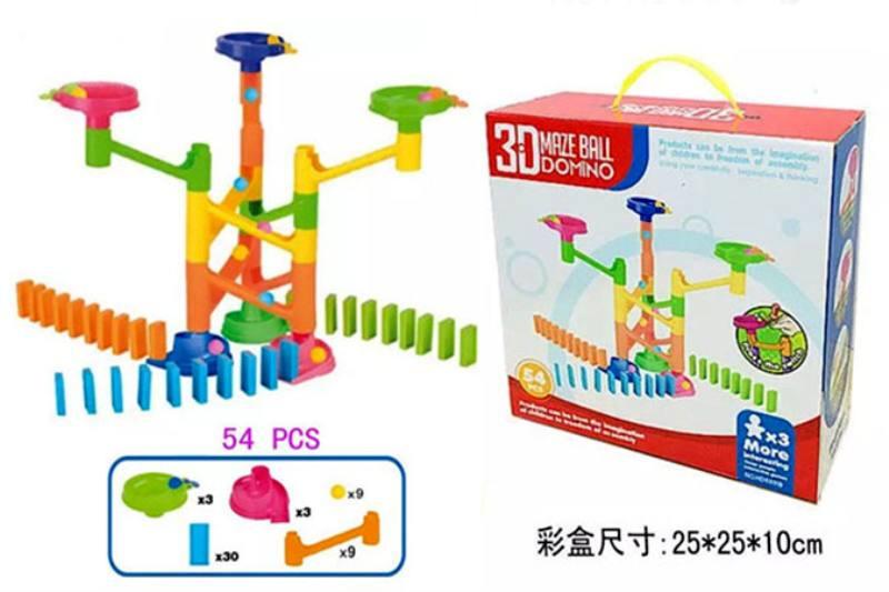 Educational Intelligence Game Toy fun ball Domino orbit 54PCS No.TA240216