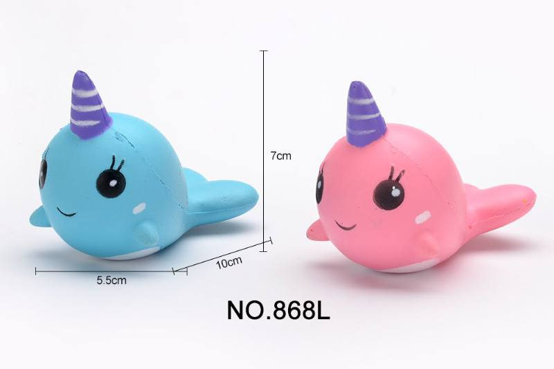 Slow rebound toy, unicorn whale, force control No.TA252220
