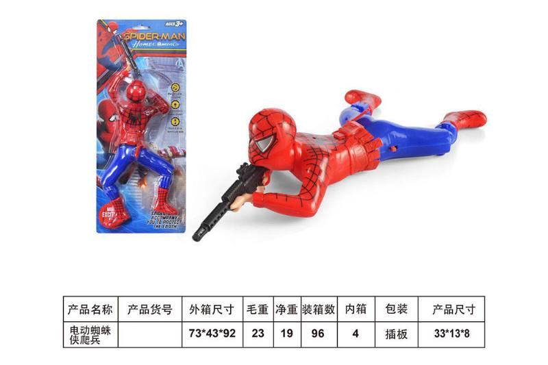 Cartoon electric toy electric spiderman creeper No.TA254431