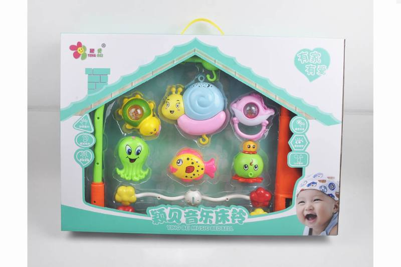 Baby Early Learning Educational Toy Series Musical Bed Bell Mobile Toys No.TA248113