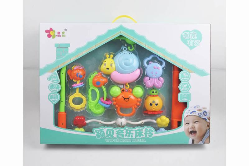 Baby Early Learning Educational Toy Series Musical Bed Bell Mobile Toys No.TA248114