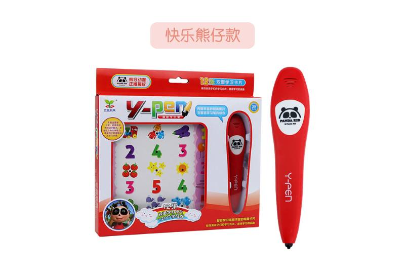 Happy bear early education intelligent logic learning pen (12 cards) smart pen No.TA251396