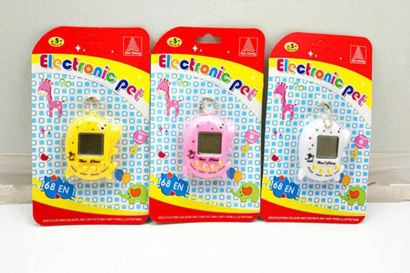 Dolphin type electronic pet with bead chain No.TA250526