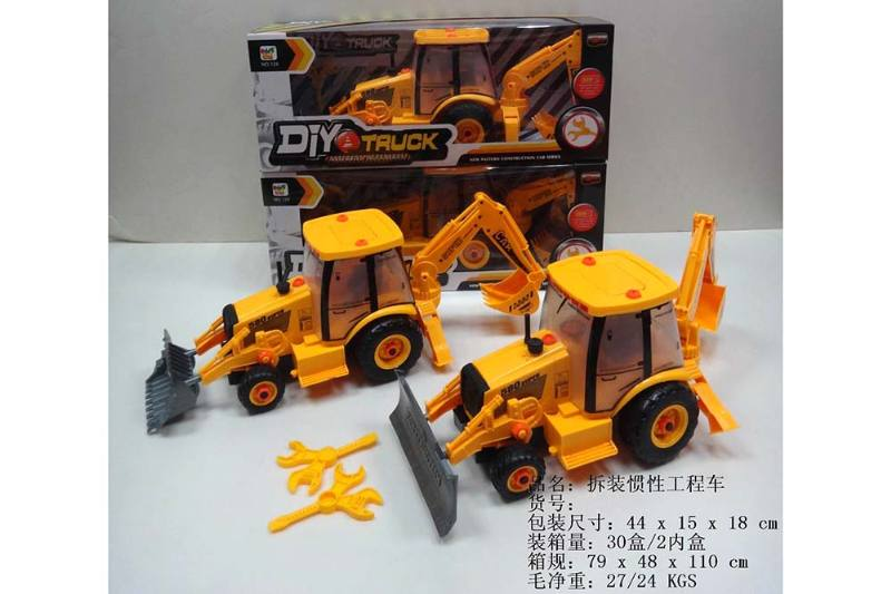 Educational self-chambering assembled toys Demolition inertial engineering vehicle (two mi No.TA242053