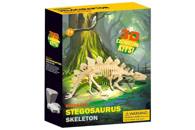 Educational self-chambering assembled toys Assembled Explosive Stegosaurus skeleton No.TA245094