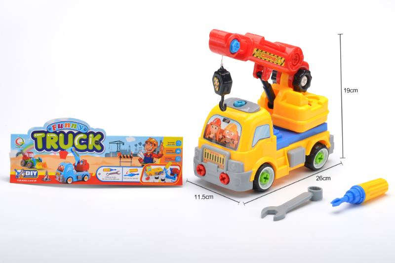Puzzle disassembly self-loading toy puzzle disassembly and skid crane No.TA253978