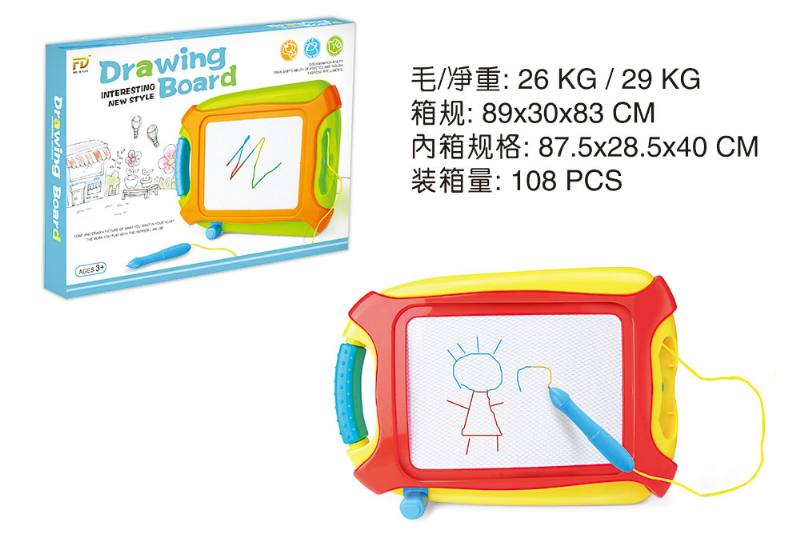Children's early education puzzle teaching board color magnetic writing board No.TA251885