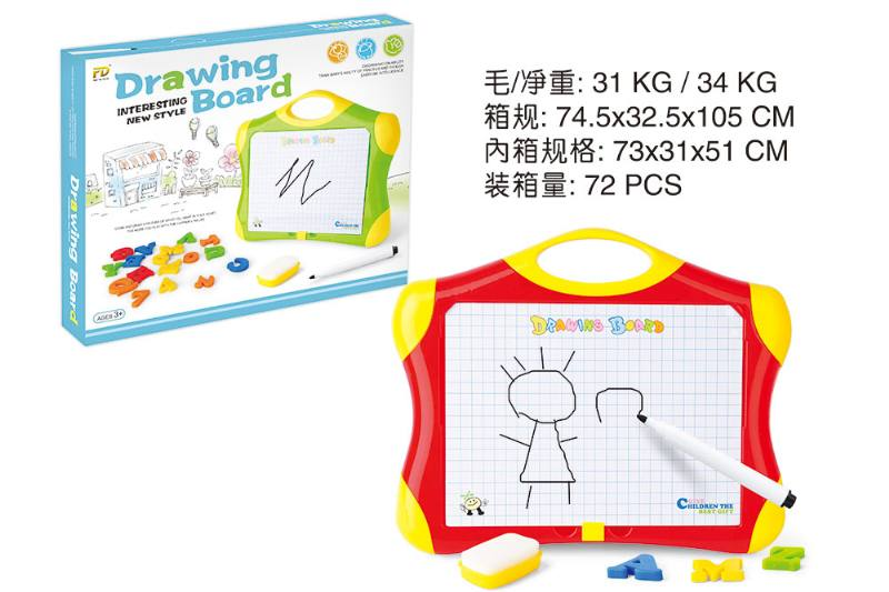 Early childhood education, teaching aids, drawing board, magnetic letter board,  No.TA251887