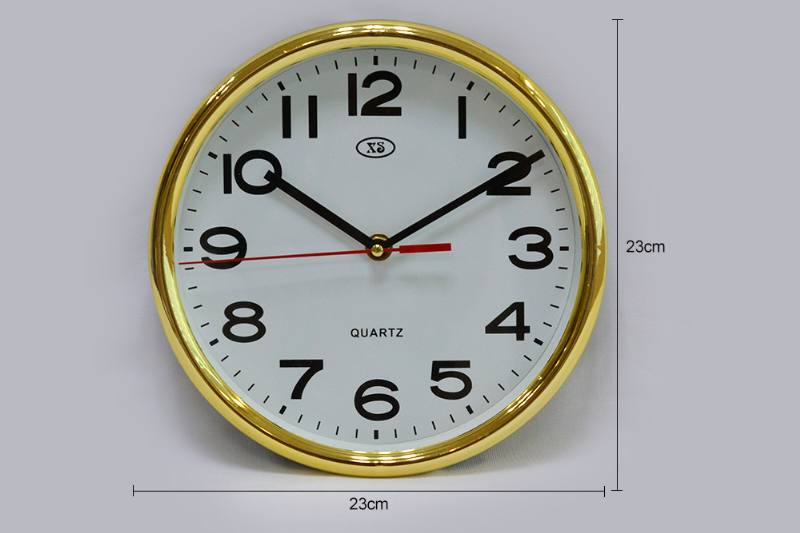 9 inch round plating wall clock (gold and silver 2 colors) No.TA249180