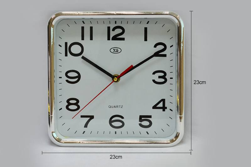 9-inch Square Plating Wall Clock (Gold and Silver 2 colors) No.TA249181