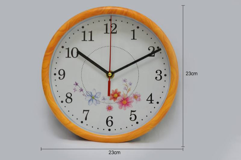 9-inch round flower wall clock (3 flower faces) No.TA249182