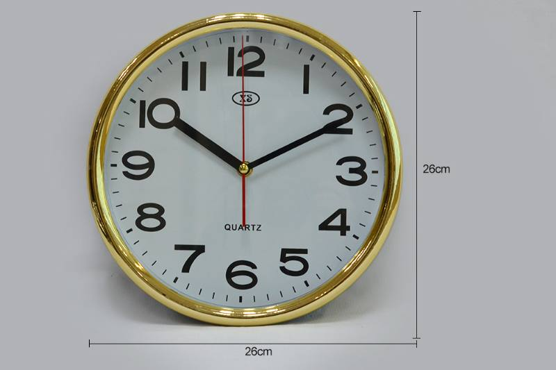 10-inch round plating wall clock (gold and silver 2 colors) No.TA249184
