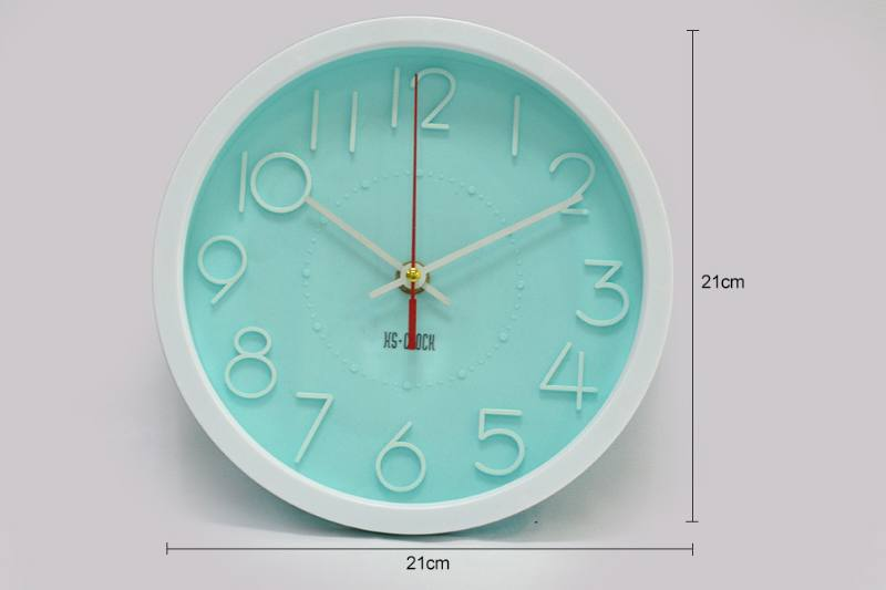 8.5 inch simple three-dimensional round wall clock (3 color clock face) No.TA249186