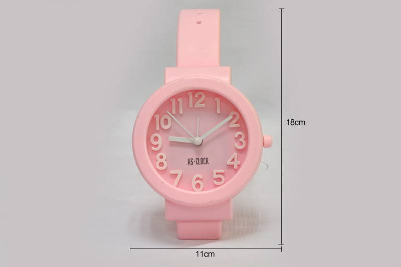 Stereo Digital Watch Alarm Clock Round (blue pink purple 3 Color) No.TA249188