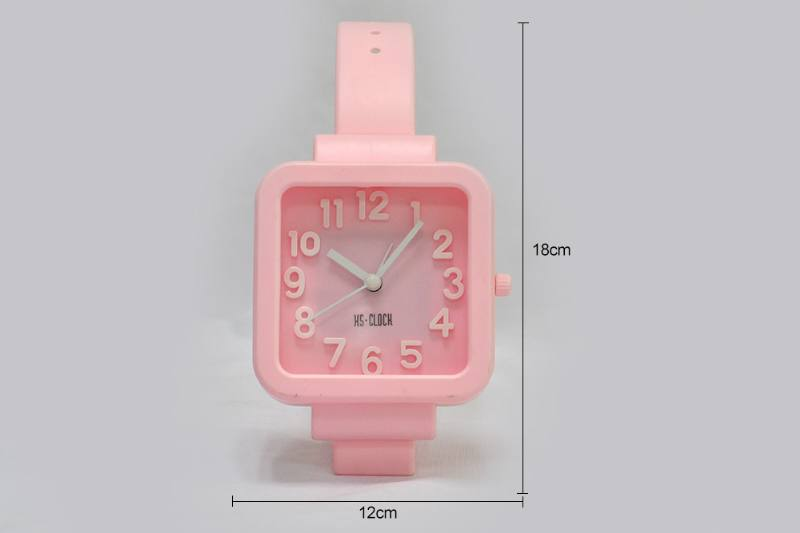 Stereo Digital Watch Alarm Square (blue pink purple 3 Color) No.TA249189