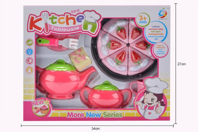 Play house toy pink tea set No.TA253927