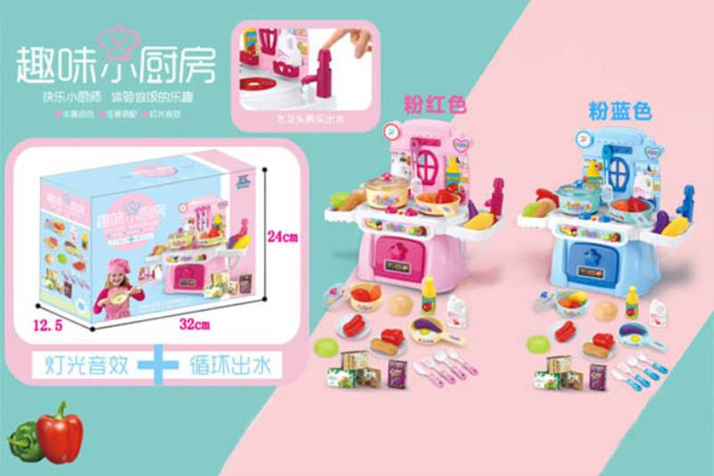 Pretend play house toys kitchen set with music and lights No.TA254445