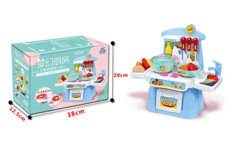 Pretend play house toys kitchen set with music and lights No.TA254446