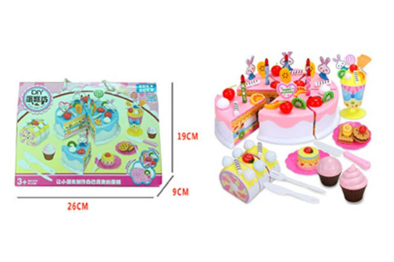 Pretend play house toys 87-piece cake cutlery No.TA254447
