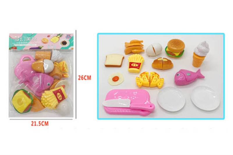 Pretend play house toys 14-piece food cutlery No.TA254451