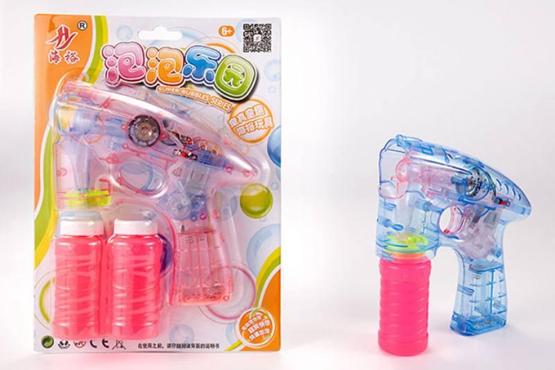 Bubble toy transparent music light automatic bubble gun No.TA253454