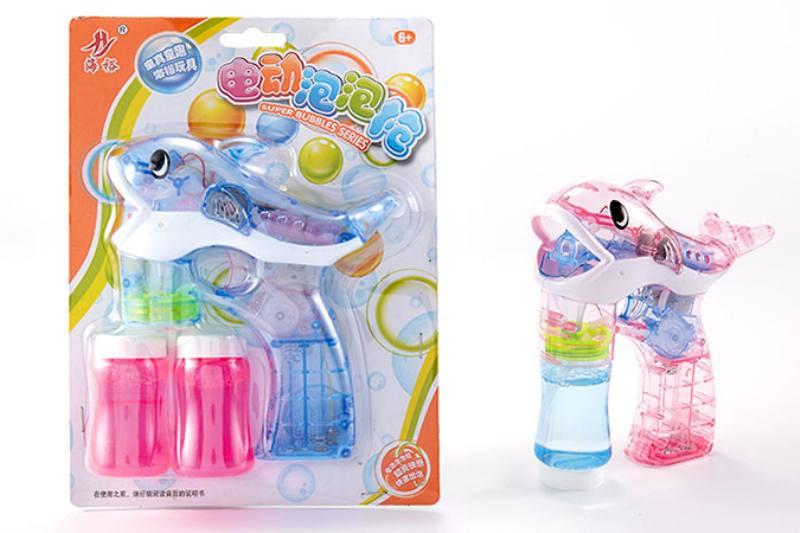 Bubble toy Dolphin transparent music light automatic bubble gun No.TA253459