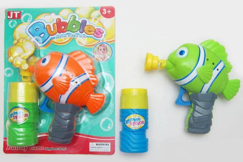 Summer Toys Clown Fish Manual Inertia Bubble Gun (Two Colors Mixed) No.TA253538