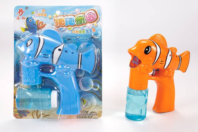 Bubble toy clown fish light music bubble gun No.TA253946