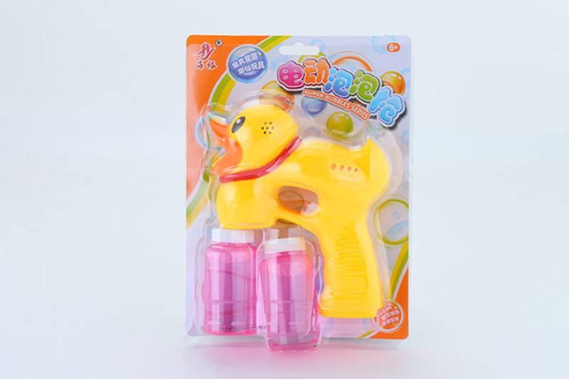 Bubble toy little yellow duck light music bubble gun No.TA253947