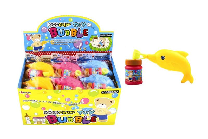 Blowing bubble toy display box 24 bags of dolphin hand pinch blowing with a whisNo.TA256568