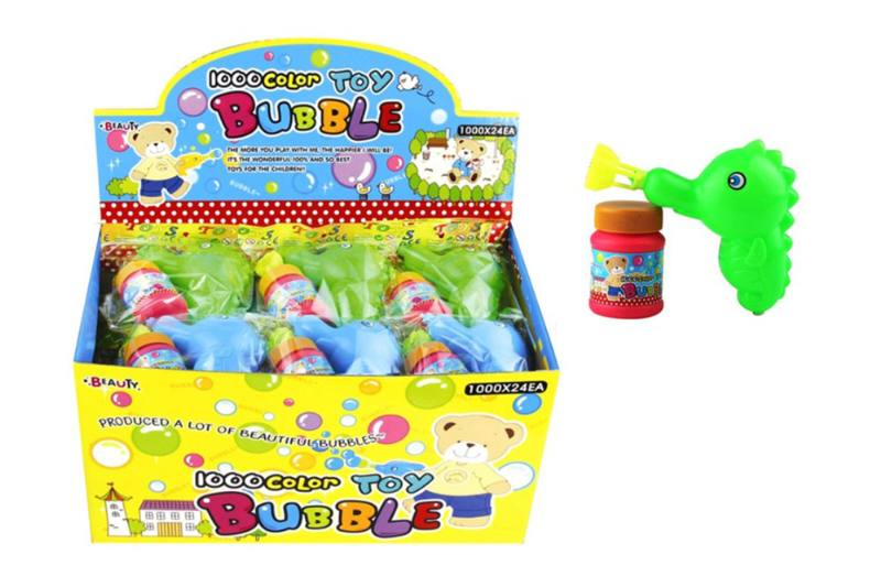 Blowing bubble toy display box 24 bags of hippocampus hand pinch blowing with a No.TA256569