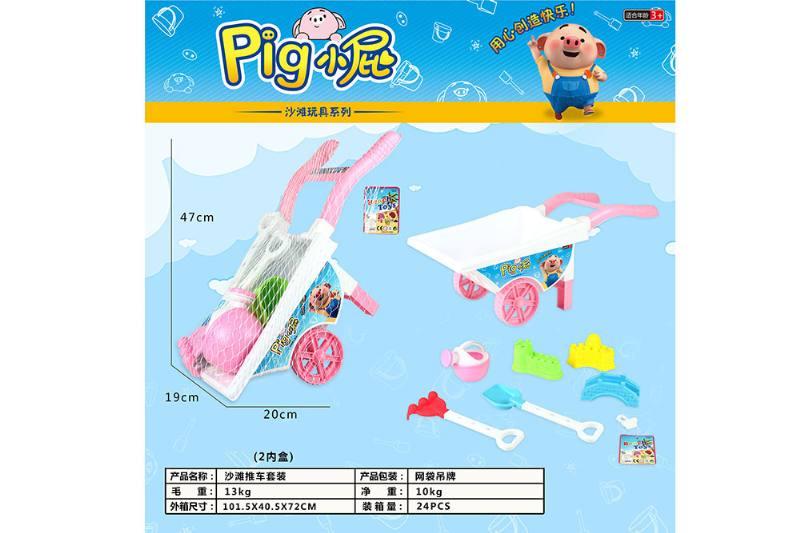 Beach toys, cute pig beach cart No.TA252970