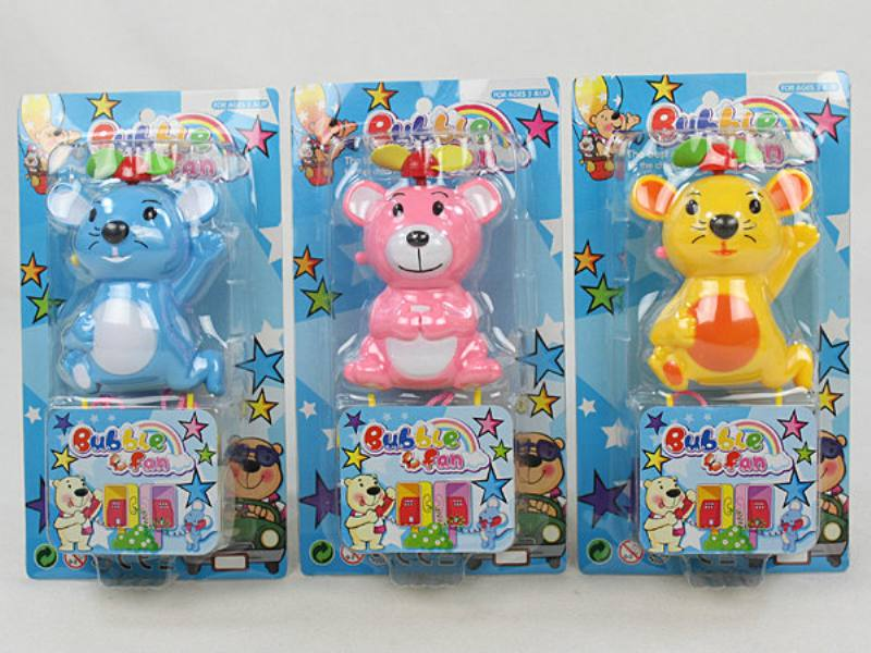 Cartoon mini fan cartoon mini fan creative gift (pink yellow blue three-color mixed) No.TA124616