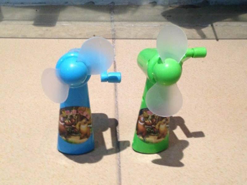 Hand fan toy Mini bear hand fan Add label 3 color mixing No.TA171033