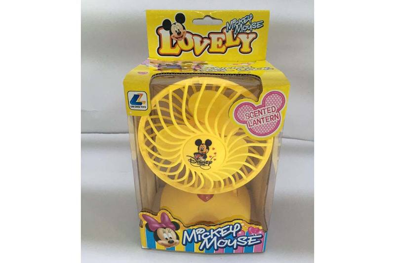 Fan toy Mickey lamplight fan No.TA235660