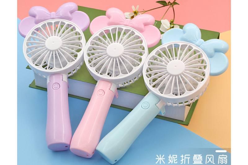 Round head Minnie folding charging fan (three colors) No.TA254105