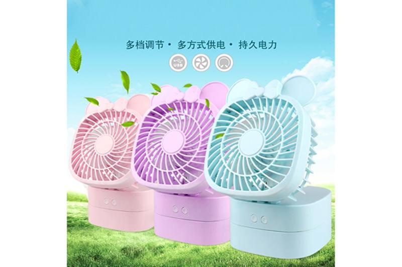 Minnie's desktop moving head fan (blue purple powder white 4 colors) No.TA254106