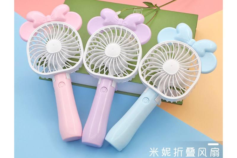Square head Minnie folding charging fan (three colors) No.TA254107