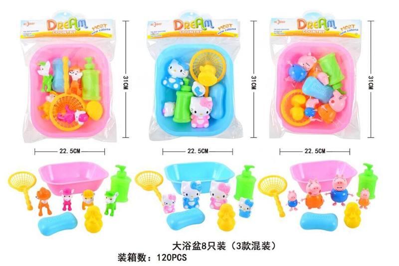 Bath toys three square tubs No.TA247538