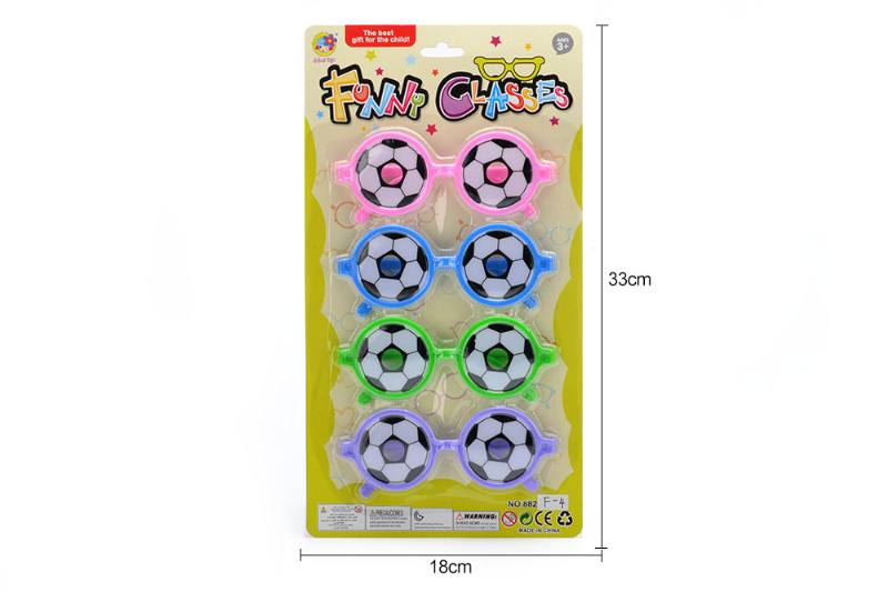 Cartoon wearing glasses toy round fun football glasses No.TA252197
