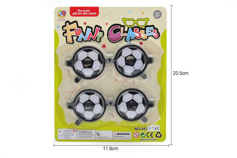 Cartoon wearing glasses toy round fun football glasses No.TA252200