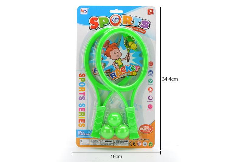 Sports toys PE film rackets toys (factory version - green and blue) No.TA249713