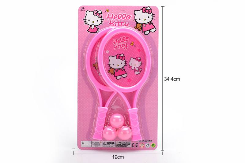 Sports toys PE film rackets toys (KT cat-pink) No.TA249716