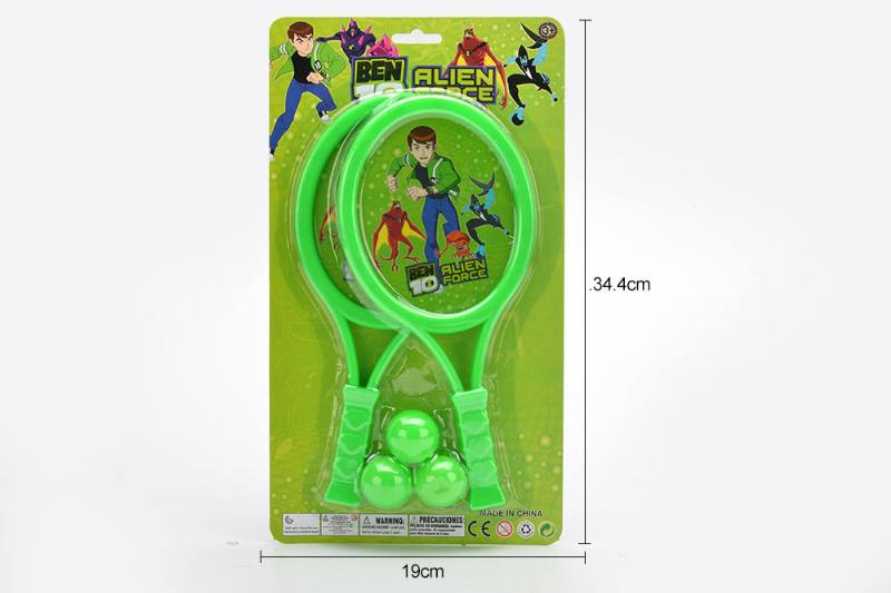Sports toys PE film rackets toys (BEN10-green) No.TA249718