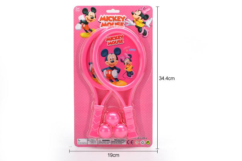 Sports Toy PE Membrane Racket Toy (Mickey - Pattern Red) No.TA249719